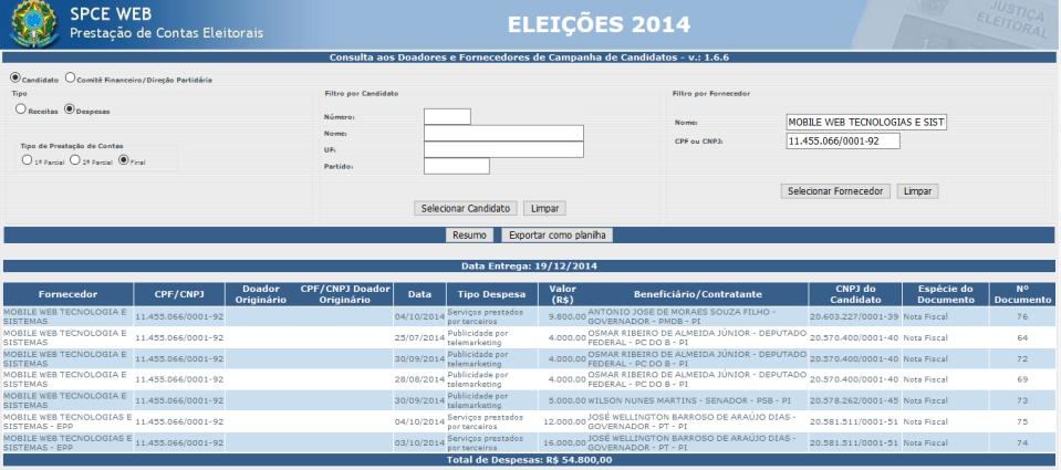DOACAO ELEICOES 2014 MOBILE